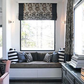 Built In Window Seat, Contemporary, bedroom, Lucinda Loya Interiors