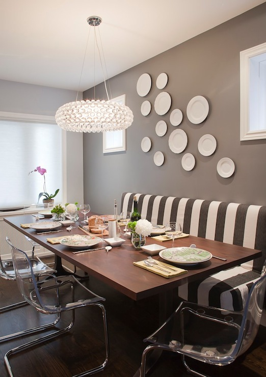 Gray Rooms Contemporary Dining Room Leslie Goodwin