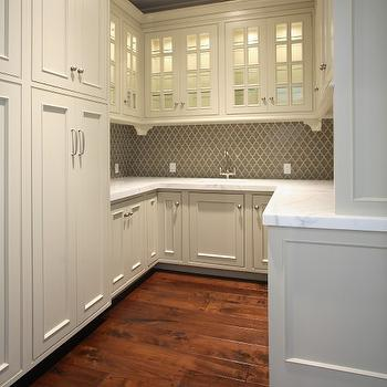 Arabesque Tile, Transitional, kitchen, Markay Johnson Construction