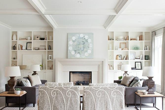 Built In Cabinets - Transitional - living room - Kelly Deck Design