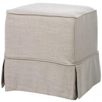 Seating - Sophia Slipcovered Ottoman - Ottomans - Living Room - Furniture | HomeDecorators.com - sophia, slipcovered, ottoman