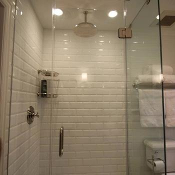 Brick Style Bathroom Tiles, Contemporary, bathroom, Sherwin Williams Pure White