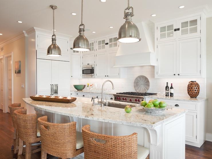 White Granite Countertops Cottage Kitchen Richard