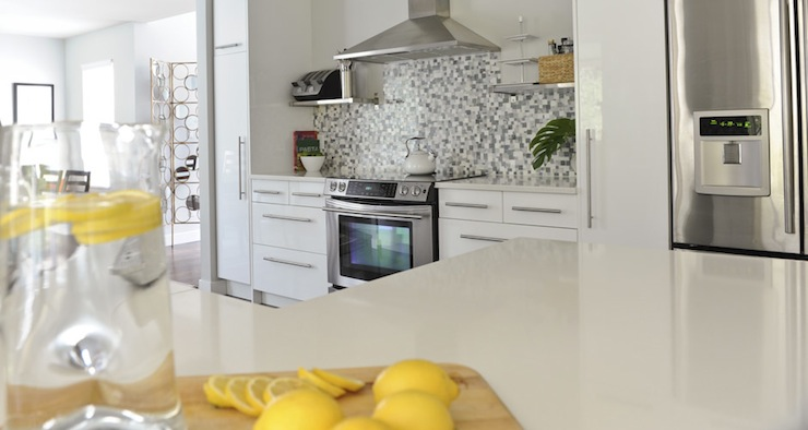 Yellow Accents Contemporary Kitchen Andrea Johnson