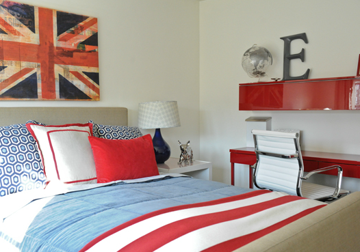 Red white and blue bedding by c f enterprises americana - Red white and blue sheets ...