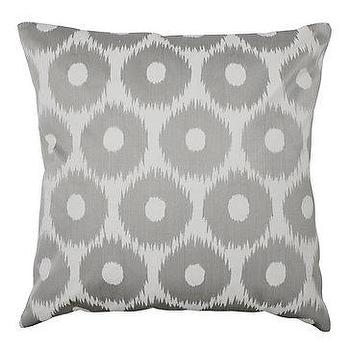 Pillows - Z Gallerie - Circle Ikat Pillow - Grey - circle, ikat, pillow, gray