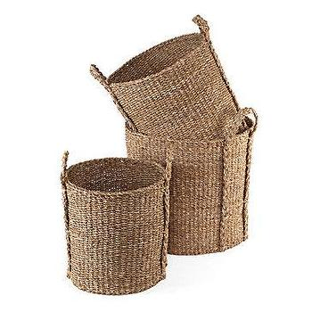 Z Gallerie, Sea Grass Baskets, Set of 3