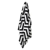 Bedding - Z Gallerie - Chevron Zig Zag Throw - Black & White - black, white, zig zag, chevron, throw