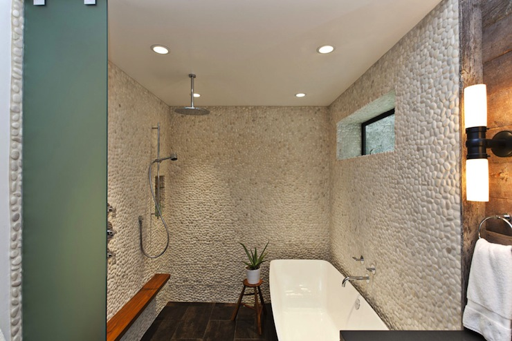 Suzie: Fiorella Design  Gorgeous spa-like shower with Walker Zanger Zen Garden Timore Tiles ...