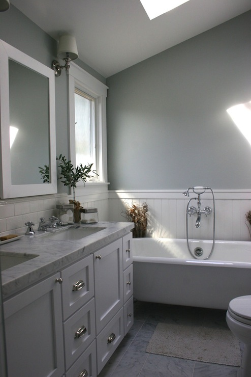 Bathroom Sloped Ceiling Transitional