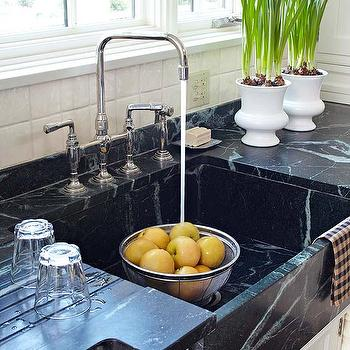 BHG - kitchens - soapstone, countertops, farmhouse, sink, soapstone countertops, soapstone sink, soapstone kitchen sink,  Soapstone countertops