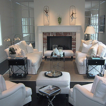 Fireplace Bench, Transitional, living room, Jackson Page Interiors