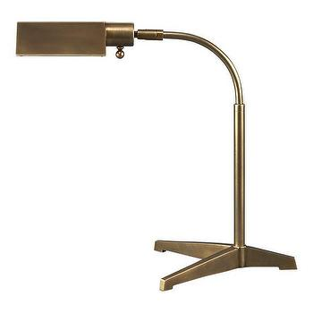 Lighting - Edson Brass Table Lamp in New Accessories | Crate and Barrel - edson, brass, table, lamp