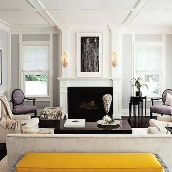 Yellow Bench, Transitional, living room, Jackson Page Interiors