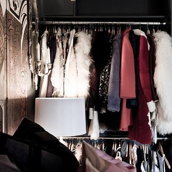 Bedroom Closet, Eclectic, closet, Rue Magazine