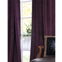 Window Treatments - Signature Eggplant Velvet 84-inch Blackout Curtain Panel | Overstock.com - eggplant, velvet, drapes