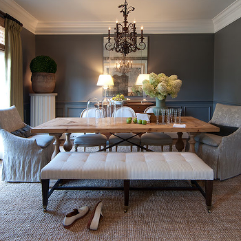 Gray Rooms, Traditional, dining room, R Higgins Interiors