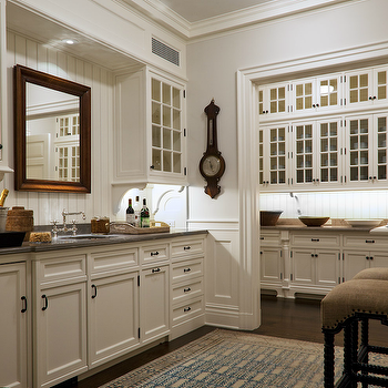 White Beadboard Kitchen, Traditional, kitchen, John B Murray Architect