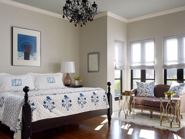 Purpel Settee Transitional Bedroom Redmond Aldrich