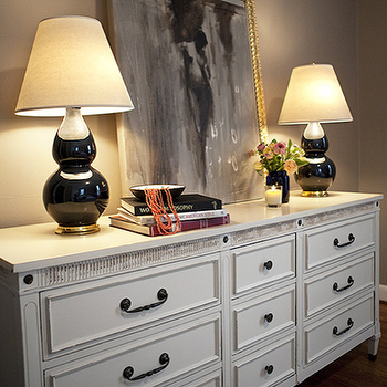Black Double Gourd Lamps, Transitional, entrance/foyer, Capella Kincheloe Interior Design
