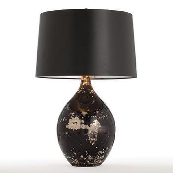 Arteriors Home 42780-523 Flynn Glass Table Lamp, Black, Lighting Universe