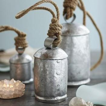 Decor/Accessories - Silver Temple Bells - VivaTerra - silver, temple, bells