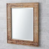 Mirrors - Bone Inlay Mirror | Pottery Barn - bone, inlay, mirror
