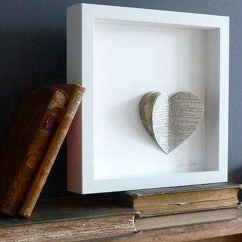 Art/Wall Decor - Vintage Heart by sarahandbendrix on Etsy - vintage, heart