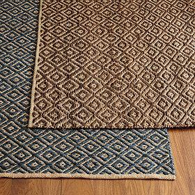 Rugs - Double Diamond Jute Rug | The Company Store - double, diamond, jute, rug