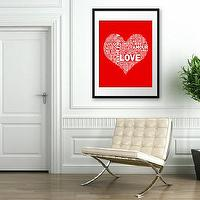 Art/Wall Decor - HUGE Archival Poster I Heart Love 16x20 inches by theloveshop - i heart love, art, print