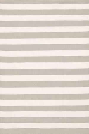 Rugs - Dash & Albert Rug Company  Trimaran Stripe Platinum/Ivory Indoor/Outdoor - timaran, stripe, platinum, ivory, rug
