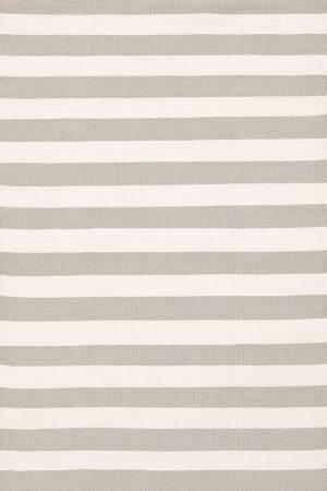 Dash & Albert Rug Company  Trimaran Stripe Platinum/Ivory Indoor/Outdoor