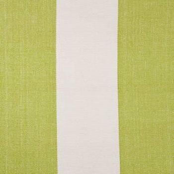 Rugs - Dash & Albert Rug Company  Yacht Stripe Green/White Woven Cotton - yacht, stripe, green, white, rug