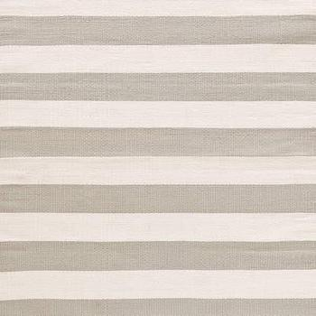 Rugs - Dash & Albert Rug Company Catamaran Stripe Platinum/Ivory Indoor/Outdoor - catamaran, stripe, platinum, ivory, rug