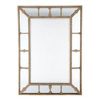 Mirrors - Gilded Beaded Mirror | Mirrors | Wisteria - gilded, beaded, mirror