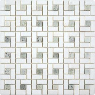 Tiles - AKDO Target Mosaics - akdo, target, thassos, ming green dot, tiles