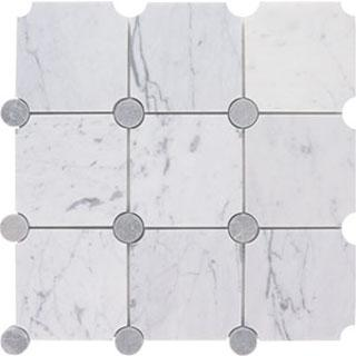 Tiles - AKDO Circle Collection - orbit, carrara, marble, tiles