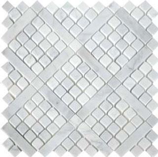 Tiles - AKDO Rhombus Mosaics - akdo, rhombus, carrara dots, tiles
