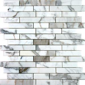 Tiles - AKDO Stagger Mosaics - akdo, stagger, calacatta, tiles