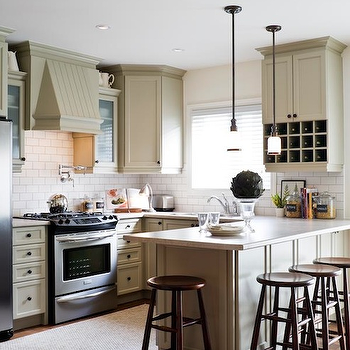 Tan Kitchen Cabinets, Contemporary, kitchen, Toronto Interior Design Group