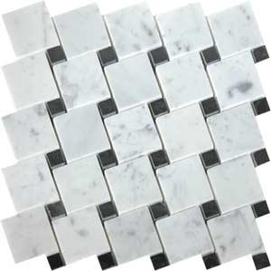 Tiles - AKDO Serrated Mosaics - akdo, serrated, carrara, tulip black, tiles