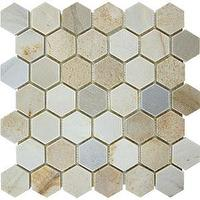 Tiles - AKDO Slate Hexagon Mosaics - akdo, slate, hexagon, tiles