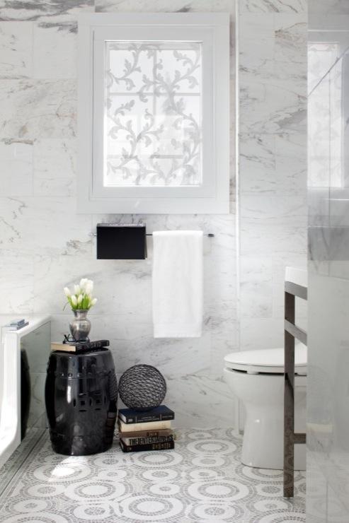 Black garden stool contemporary bathroom toronto interior design group - Bathroom design toronto ...
