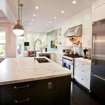 Honed Calcutta Marble Countertops, Contemporary, kitchen, Cardea Building Co.