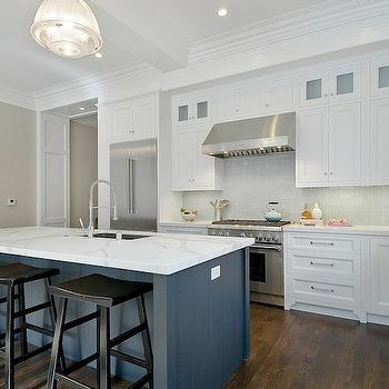 Calcutta Ora Marble, Contemporary, kitchen, Benjamin Moore Balboa Mist, Cardea Building Co.