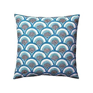 Marine Kyoto Block Print Pillow, Serena & Lily