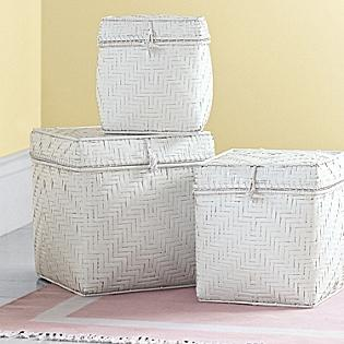 Decor/Accessories - Bamboo Nesting Baskets - Set of Three | Serena & Lily - bamboo, nesting, baskets