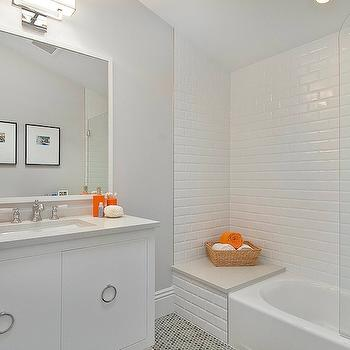 Beveled Subway Tile Shower, Contemporary, bathroom, Cardea Building Co.