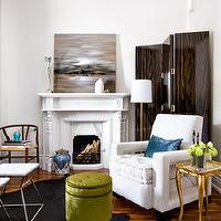 Slipper Chairs Transitional Living Room Benjamin
