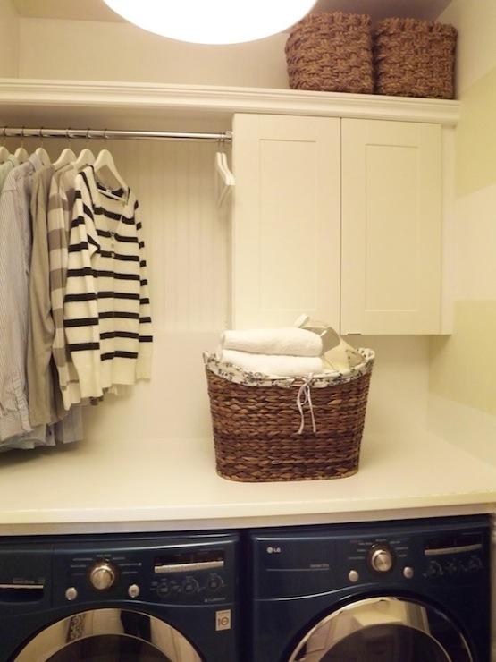 Ikea Adel Cabinets - Transitional - laundry room - Mini Manor